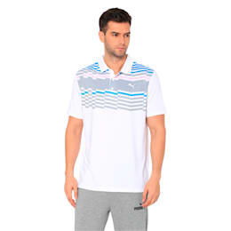Road Map Men's Golf Polo, Bright White-Pale Pink, small-IND