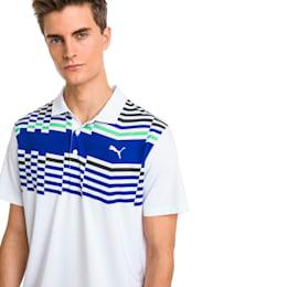 Road Map Men's Golf Polo, Bright White-Irish Green, small
