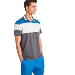 Nineties Men's Golf Polo, Bleu Azur, small