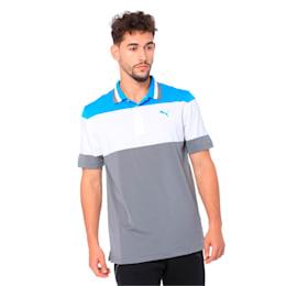 Nineties Men's Golf Polo, Bleu Azur, small-IND