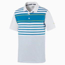 Spotlight Men's Polo, bleu azur-blazing yellow, small