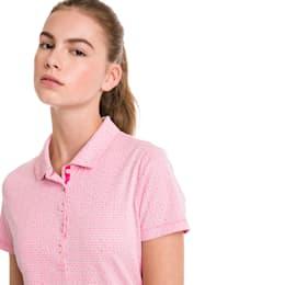 Swift Women's Golf Polo, Fuchsia Purple-Bright White, small