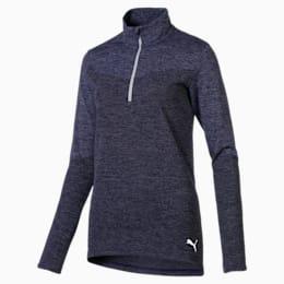 evoKNIT 1/4 Zip Women's Golf Pullover, Peacoat Heather, small