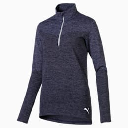 evoKNIT Women's 1/4 Zip Pullover, Peacoat Heather, small