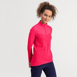 evoKNIT 1/4 Zip Damen Golf Pullover, Azalea Heather, small