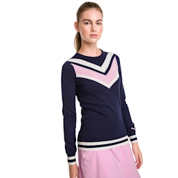 Chevron Women's Golf Sweater, Peacoat, small