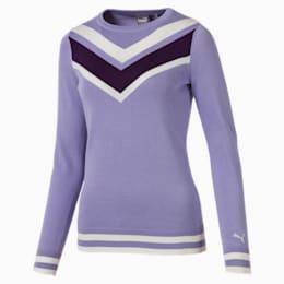 Chevron Damen Golf Sweatshirt, Sweet Lavender, small