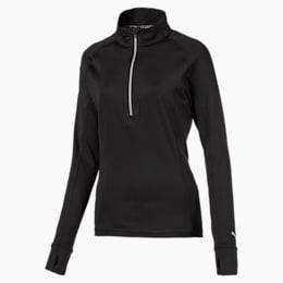 Camisola de golfe com fecho 1/4 Rotation para mulher