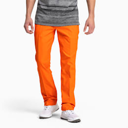Jackpot Woven 5 Pocket Men's Golf Pants, Vibrant Orange, small
