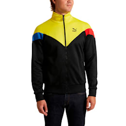 Iconic MCS Men's Track Jacket, Puma Black-yellow, small