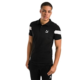 Iconic MCS Slim Men's Polo, Cotton Black, small-IND