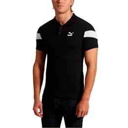 Iconic MCS Men's Slim Polo, Cotton Black, small