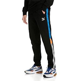 XTG Knitted Men's Sweatpants, Cotton Black, small-SEA