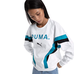 Chase Long Sleeve Women's Pullover, Puma White, small