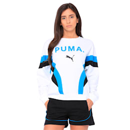 Chase Long Sleeve Women's Pullover, Puma White, small-IND