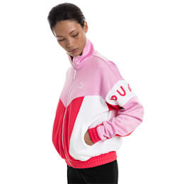 XTG 94 Women's Track Jacket, Hibiscus, small-IND