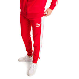 Iconic T7 Knitted Men's Sweatpants, High Risk Red, small-SEA