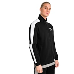 Archive Iconic T7 Double Knit Men's Track Jacket, Cotton Black, small