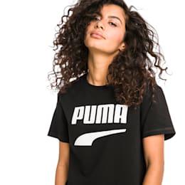 Downtown Damen T-Shirt, Cotton Black, small