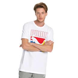 Graphic Box Logo Men's Tee, Puma White, small-SEA