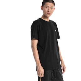 Graphic Multiple Logo Tee, Cotton Black, small-IND