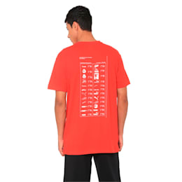Graphic Multiple Logo Tee, High Risk Red, small-IND