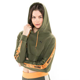 PUMA x SUE TSAI Cropped Women's Hoodie, Olivine, small