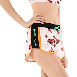 PUMA x SUE TSAI Knitted Women's Shorts, Orange Pop-AOP Pearl-Cherry, small