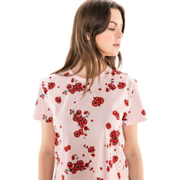 PUMA x SUE TSAI Women's Tee, -- Cherry Blossom AOP, small