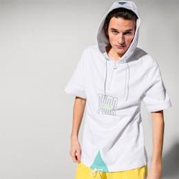 Camisola de manga curta com capuz PUMA x DIAMOND para homem, Puma White, small