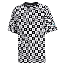 Checkboard All-Over Print Men's Tee, Puma White--AOP, small-SEA