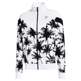 PALM TREE MCS トラックジャケット, Puma White- -Plam Tree AOP, small-JPN