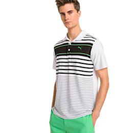 Spotlight Men's Golf Polo, puma black-irish green, small