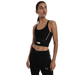 Trailblazer Women's Cropped Top, Puma Black, small-SEA