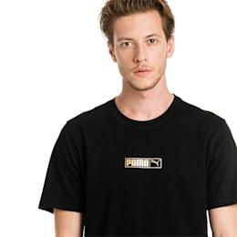 T-Shirt Graphic Logo No. 2 pour homme, Cotton Black-gold foil, small