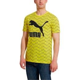 Graphic Retro Sports Short Sleeve Men's Tee, Blazing Yellow, small-SEA