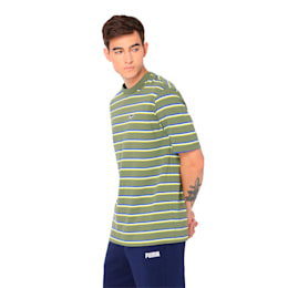 Downtown Stripe Men's Tee, Olivine, small-IND