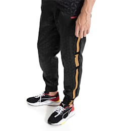 LUXE PACK All Over Printed Men's Track Pants, Puma Black--AOP, small-SEA