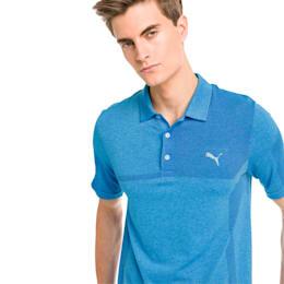 evoKNIT Breakers Men's Golf Polo, Bleu Azur Heather, small