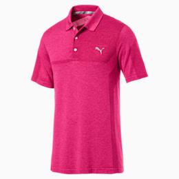 evoKNIT Breakers Men's Golf Polo, Fuchsia Purple Heather, small-SEA