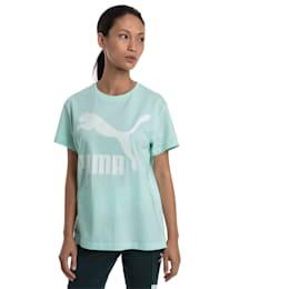 CLASSICS ロゴ ウィメンズ SS Tシャツ 半袖, Fair Aqua, small-JPN
