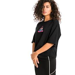 TZ ウィメンズ SS Tシャツ 半袖, Cotton Black, small-JPN
