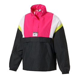 90S RETRO ウィメンズ ウーブン ヘッドスルー ジャケット, Asphalt, small-JPN