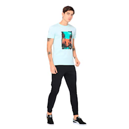 Graphic Palms Photo Tee, Fair Aqua, small-IND