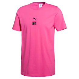 PUMA x MTV Herren T-Shirt, SHOCKING PINK, small