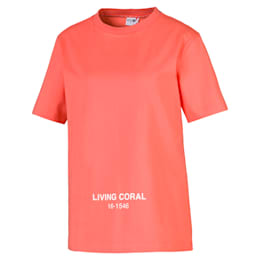 PUMA x PANTONE Women's Tee, Transparent-Living Coral, small