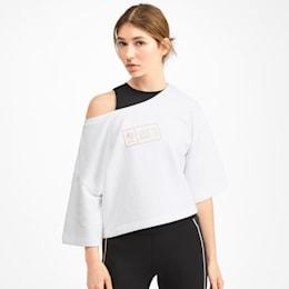 PUMA x SELENA GOMEZ Cropped Short Sleeve Women's Sweater, Puma White, small
