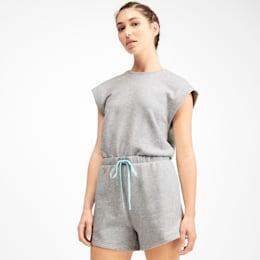 PUMA x SELENA GOMEZ Damen Jumpsuit, Light Gray Heather, small
