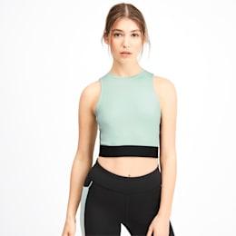 PUMA x SELENA GOMEZ Sleeveless Women's Crop Top, Fair Aqua-Puma Black, small
