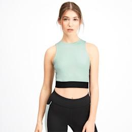 PUMA x SELENA GOMEZ Sleeveless Women's Crop Top, Fair Aqua-Puma Black, small-IND